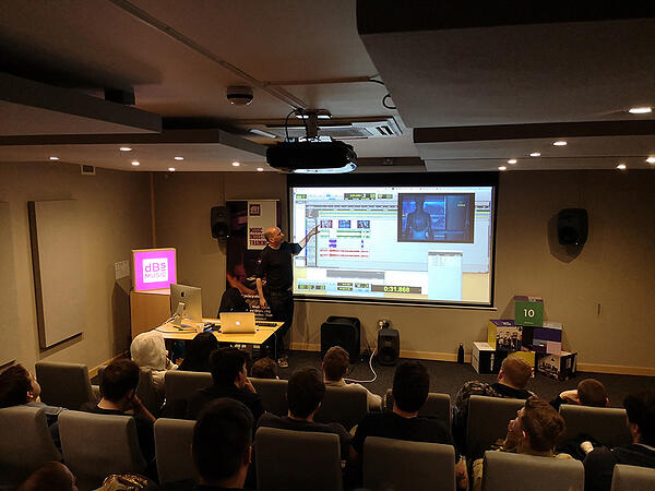 10 Key Tips for Game Audio Freelancers - Tip 8 Build your network - Richard Jacques guest lecture at dBs Bristol