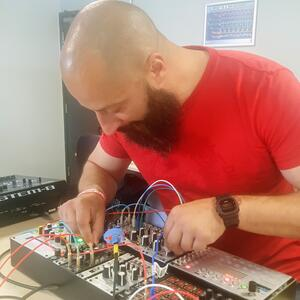 Sammy Wightman creating using his modular arsenal