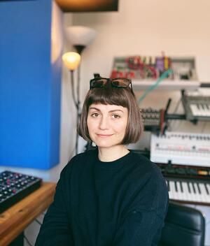 Cami Milieme in her home studio - (From education to the audio industry)