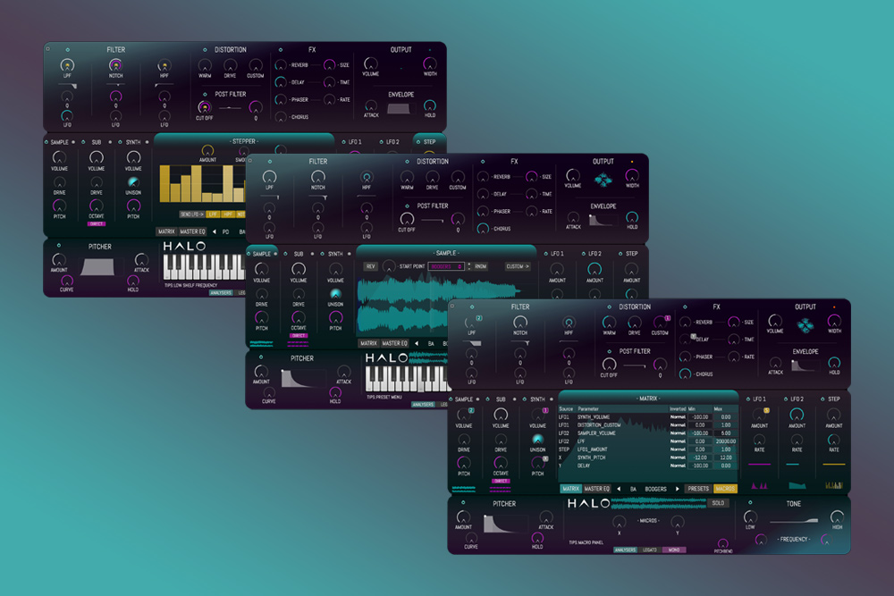 HALO features user interface - How to develop and market your own audio plugin