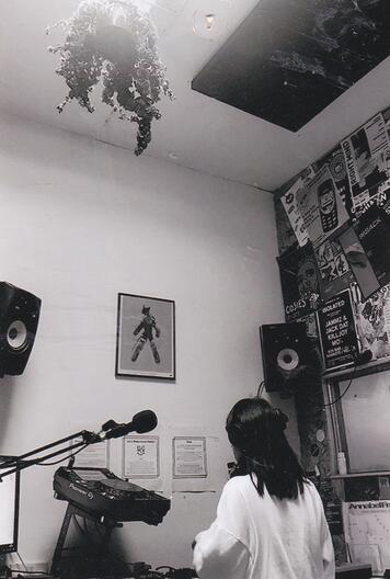 DJ and electronic music production student Eve playing at 1020 radio