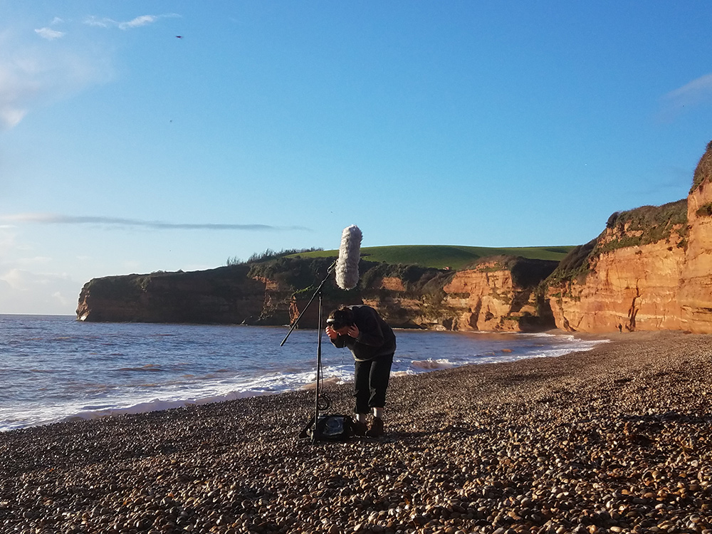 Jodie Norvell - field recording on the beach