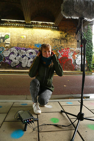 Natalia Mamcarczyk capturing the sounds of the city