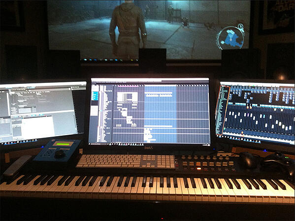 Olivier Deriviere's workstation