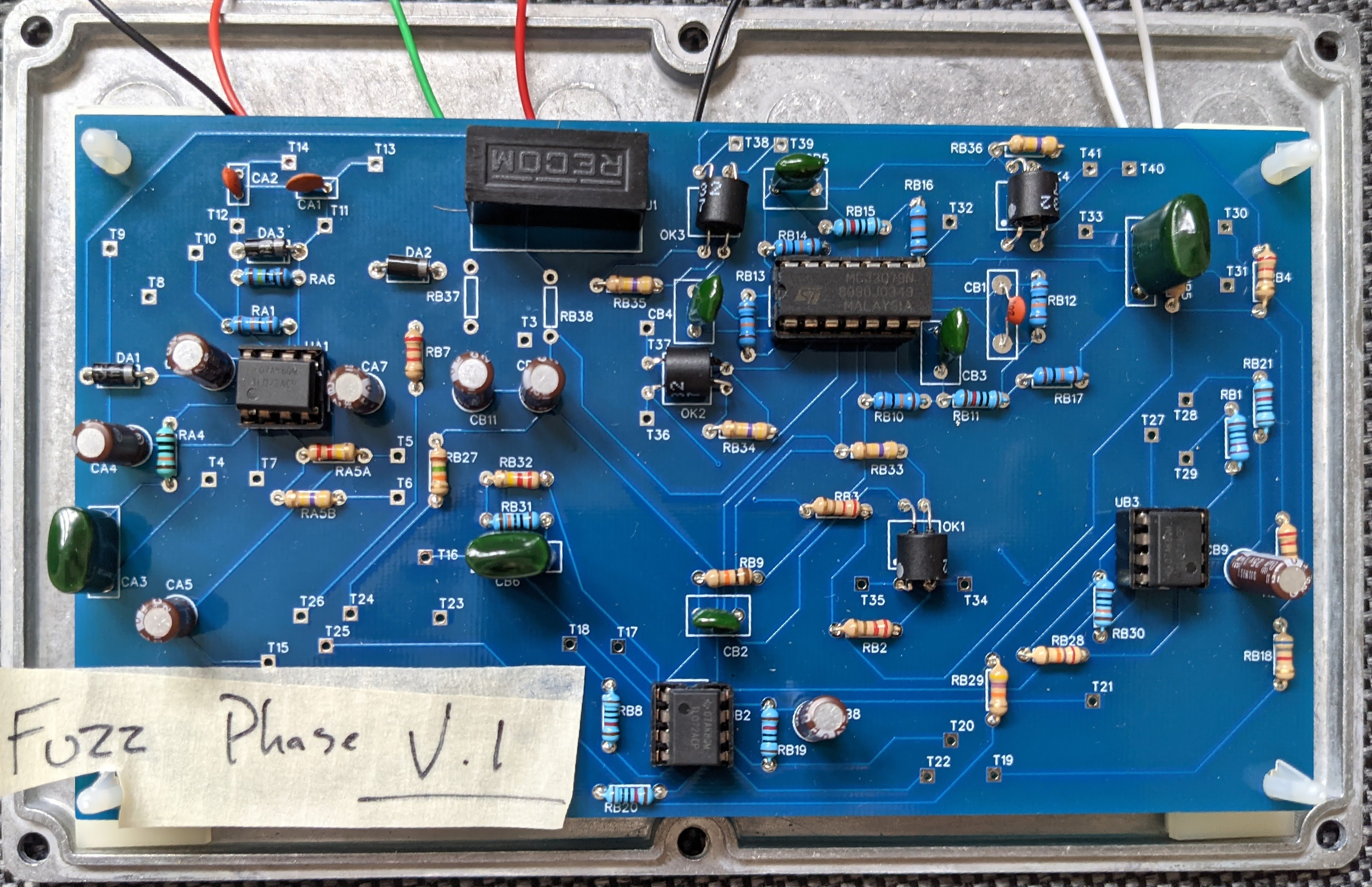 fuzz phase guitar pedal built by dBs technician Callum Godfroy