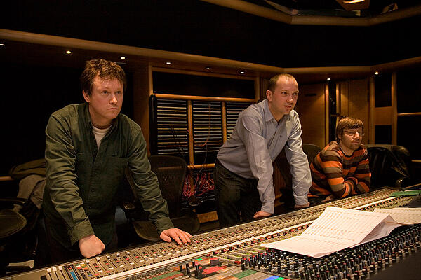Richard Jacques in the recording studio