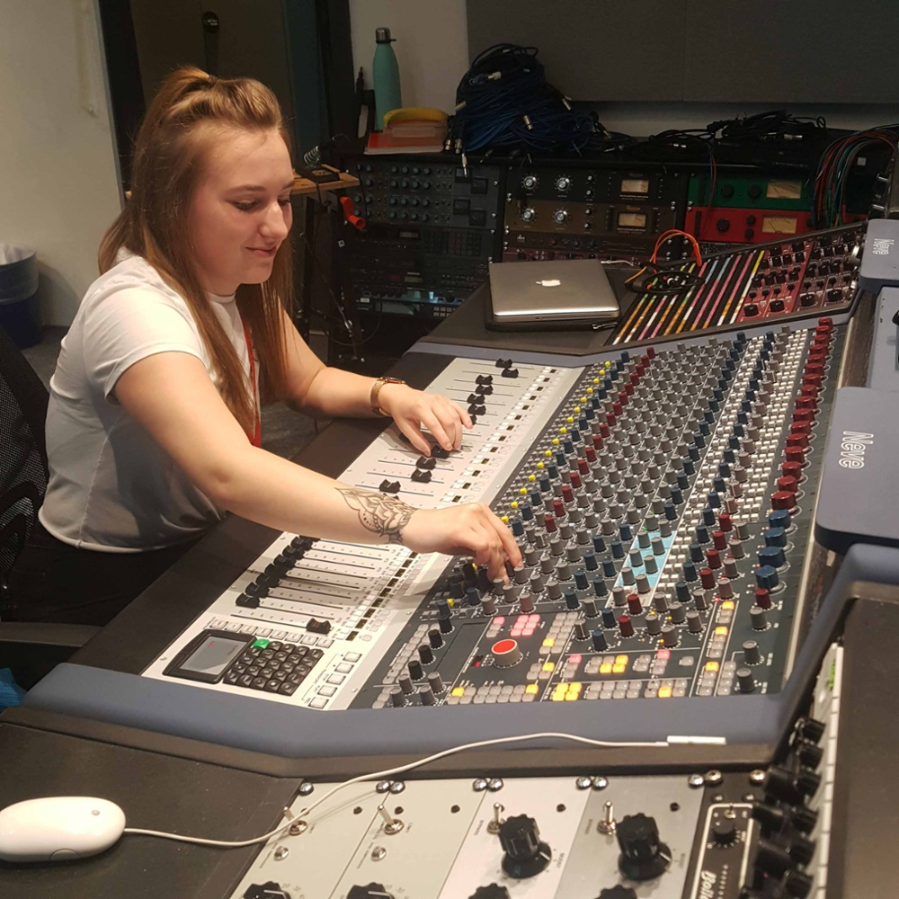 Em Morley in The Neve Studio dBs Plymouth