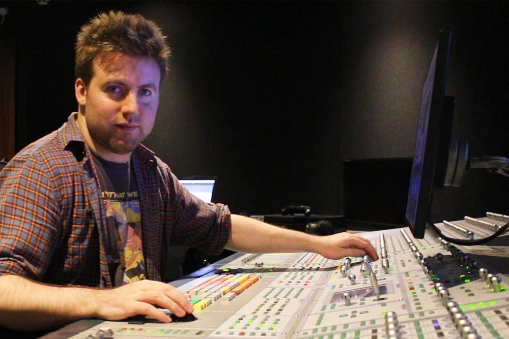 Tom Bennett at the mixing desk - Why more producers are specialising in sound design