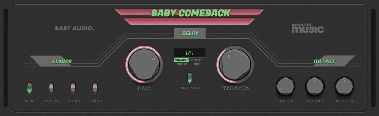 A closeup image of Baby Comeback's user interface