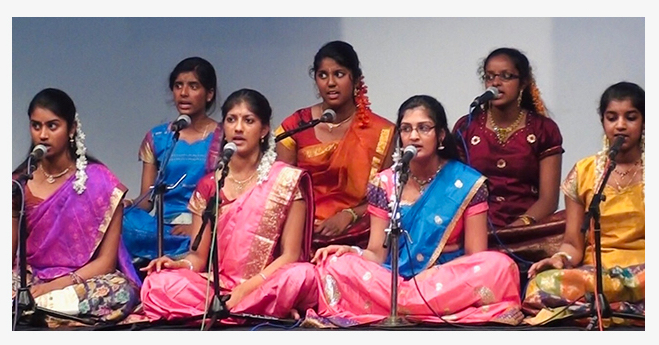 dBs student Regina is trained in Carnatic vocal music