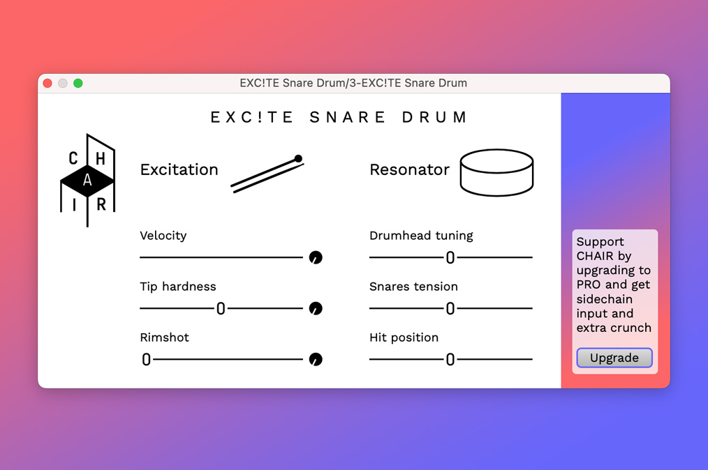 Free Software Friday - Chair EXC!TE SNARE DRUM (Featured Image)